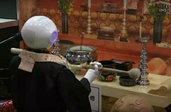 Robot priest for funerals in future!