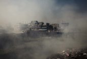 Dust, fog, clouds engulf Dhaka