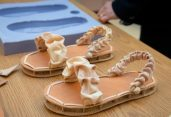 Biodegradable shoes made from mushrooms, chicken feathers